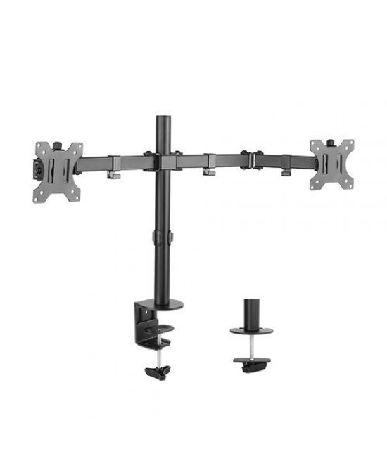 Dual LCD Monitor Desk Mount Stand Fully Adjustable for 2 Screens up to 32""