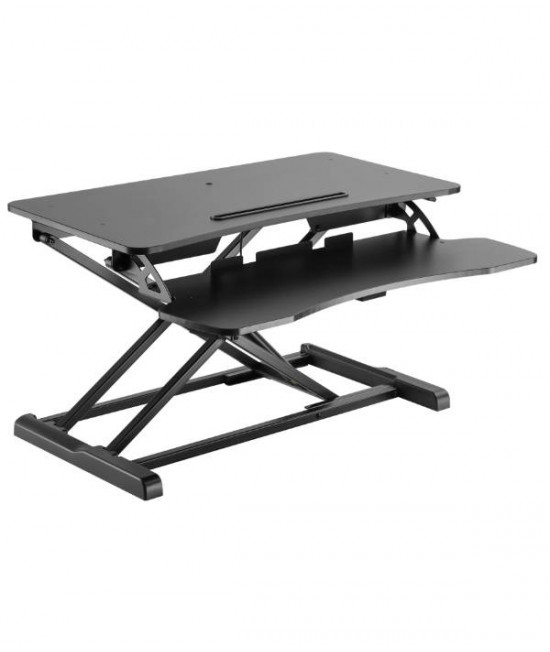 Height Adjustable Desktop Desk Sit Stand Workstation